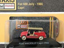 Fiat 600 Jolly (1966) Capri Rare Diecast Scale 1:43 New Stand + Magazine
