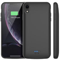 For iPhone XR Backup Charger Case Power Bank Portable Battery Slim Thin Charging