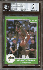 1985 Star Gatorade Slam Dunk Michael Jordan #7 BGS 9 w GEM MINT Edges & Surface