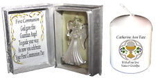 1st Holy Communion special poem gift Crystal Angel + FOC Communion Candle #5