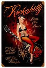 Rockabilly Pin Up Girl Vintage Metal Sign Man Cave Garage Motorcycle RB012