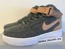WMNS NIKE AIR FORCE 1 07 LTHR PRM UK 3.5 US 6 36.5 COOL GREY VANCHETTA TAN