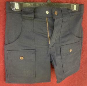 """Vintage 80's Men's Levi's Navy Cotton Canvas 28"""" Waist Shorts - ORIGINAL Owner"""