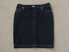 Womens True Religion Blue Denim Straight Skirt, Size 30