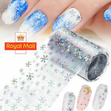 HOLOGRAPHIC CHRISTMAS Nail Art Foils Nail Transfer Foil Wrap Decal Sticker UK