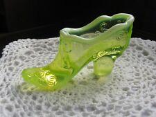 Mosser Glass - Vaseline Opal Trim Bow Slipper