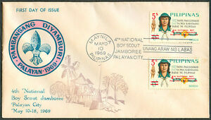 1969 Philippines 4TH BOY SCOUT NATIONAL JAMBOREE First Day Cover - A