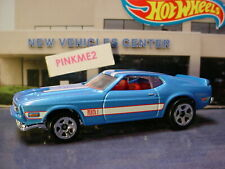 '71 MUSTANG MACH 1☆blue/red int☆2018 Hot Wheels Target THROWBACK LOOSE Exclusive