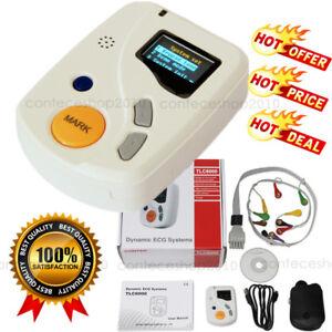 TLC6000 Dynamic 48hours 12 Lead ECG/EKG Holter Monitor Alalyzer Software Contec