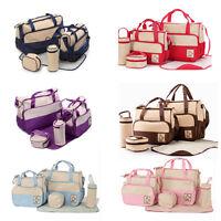 5pcs Baby nappy changing bag set 5PCS Brand New Cute diaper bags UK Seller