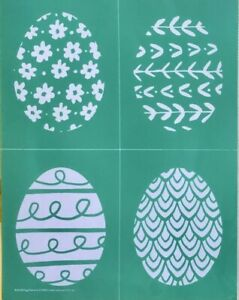 Chalk Couture EGG PATTERNS Transfer NEW Easter eggs