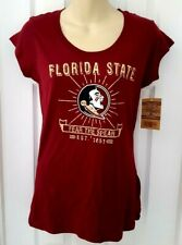FLORIDA STATE SEMINOLES Womens T Shirt Small 4/6 Fear the Spear 1851 Maroon New