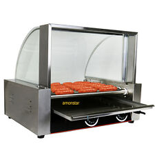 1800w Commercial 24 Hot Dog 9 Roller Grill Cooker Machine W/ Cover CE