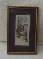 """Incorniciato & smaltata Cash'S Otter Lutra in seta 6"""" (15.5 cm) x 9 1/2"""" (24 cm)"""