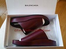 Balenciaga Pads Wedge Sandals - Burgundy - Size 38.5