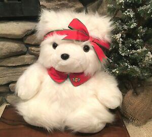 Dayton Hudson 1987 Miss Santa Bear Co-Pilot Vintage Plush Christmas Collectible
