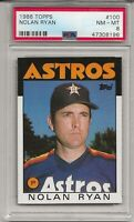 1986 TOPPS #100 NOLAN RYAN, PSA 8 NM-MT, HOF, CENTERED, HOUSTON ASTROS, L@@K !