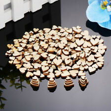200 Pcs Wood Discs Wooden Small Heart Shaped Cutout for Wedding Valentine