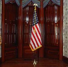 US Indoor Flagpole Set with Fringed 3' x 5' Flag