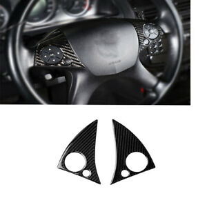 For Mercedes-Benz C Class W204 2007-10 Carbon Fiber Steering Wheel Button Cover