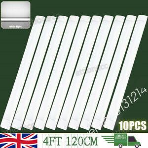 10X 4FT LED Batten Tube Light IP65 Garage Workshop Ceiling Panel Lamp