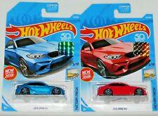 2018 HOT WHEELS RLC FACTORY SET FACTORY FRESH SERIES 2016 BMW M2 X 2 COLORS