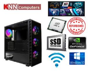 Temper-TG302 Gaming PC Core i5 4th G 8GB RAM 128GB SSD GT710 2GB Refurbished PC