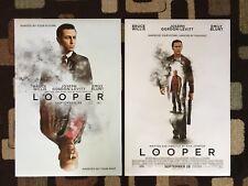 Looper Original Movie Poster 27X40 DS Lot Of 2 Both Styles 2012 Rian Johnson
