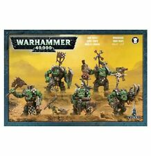 Warhammer 40k - Orks - Ork Nobz X5 with Ammo Runt - Brand New Unboxed