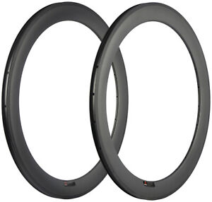 60mm Carbon Rim 25mm Width Clincher Bicycle Rims 700C 16/18/20/21/24/28/32/36