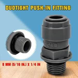 Duotight Push-In Fitting 8 mm (5/16 in.) x 1/4 in. MPT perfect for Manifolds Hot