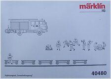 """Märklin 40480 SET COMPLETO """" galleria ferroviaria di salvataggio """"# NUOVO conf."""