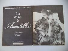 advertising Pubblicità 1982 PELLICCE PELLICCERIA ANNABELLA - PAVIA