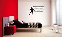 SOME PEOPLE WANT IT TO HAPPEN BASKETBALL STICKER VINYL WALL QUOTE DECAL KIDS