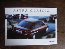 Opel Astra Classic 4-drzwiowa (4-Türer) Prospekt / Brochure, PL, 4.1999