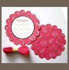 very pretty elegant pink floral country style message gift card tag kid 20 pcs