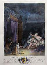 Nicolas Delaunay Pierre-Antoine Baudouin La Sentinelle en défaut French Etching