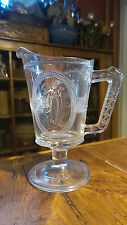 Antique Early American Pattern Glass EAPG CREAMER PITCHER, Venus & Cupid, 6""