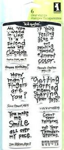 "Friendly Advice #99181 ""kid quotes"" Inkadinkado Clear Stamp Set NEW"
