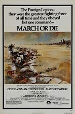 Original MARCH OR DIE Great Art 1 sheet
