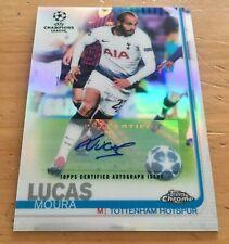 ]2018-19 Topps Chrome UEFA CL - [Base] - Refractor Autographs #2 - Lucas Moura
