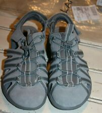 Women's All Weather Closed Toe Walking Sandals SILVER GRAPHITE SIZE 6