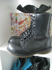 Vintage Original Dr Martens 10 Loch Eye Boots UK 3 36 37 Skinhead Punk Goth rare