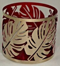 Bath & Body Works Silver Leaves 3 Wick Candle Sleeve Holder