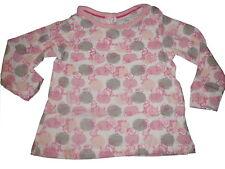 NEU tolles Langarm Shirt Gr. 62 / 68 weiß-rosa-grau mit witzigen Ice Age Motiven