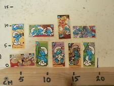 STICKER,DECAL SMURFS 24 STICKERS BUBBLEGUM KAUWGOM,SCHLUMPHE,SCHROUMPFS,PITUFOS