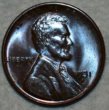 Brilliant Uncirculated 1931-S Lincoln Cent, Beautifully toned specimen.