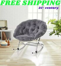 New ListingMember's Mark Rocking Saucer Chair grey Free Shipping
