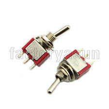 5PCS Red Mini Toggle Switch SPDT 2 Position ON-ON 3-PIN 12V 6A Silver Contacts