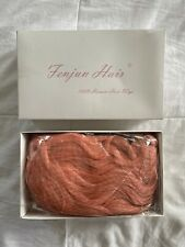 NEW Fenjun Brazilian Lace Front Pink Wig Human Hair 14in Wavy
